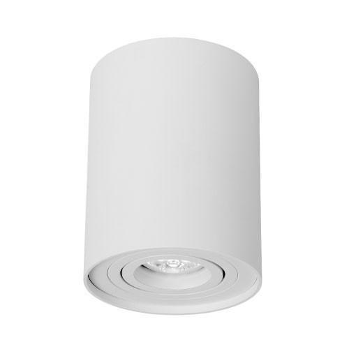 Witte opbouwspot Tube Lucide toilet, hal