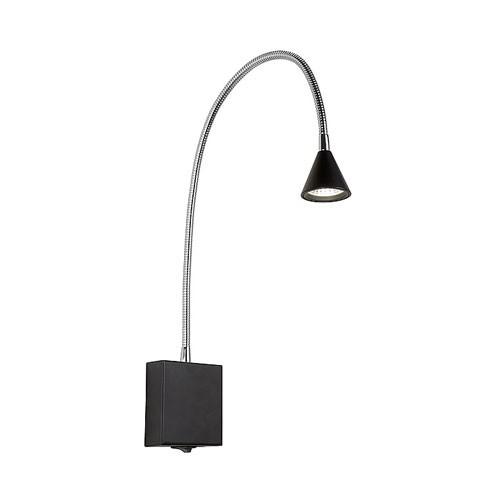 Verstelbaar Bedlampje zwart met LED