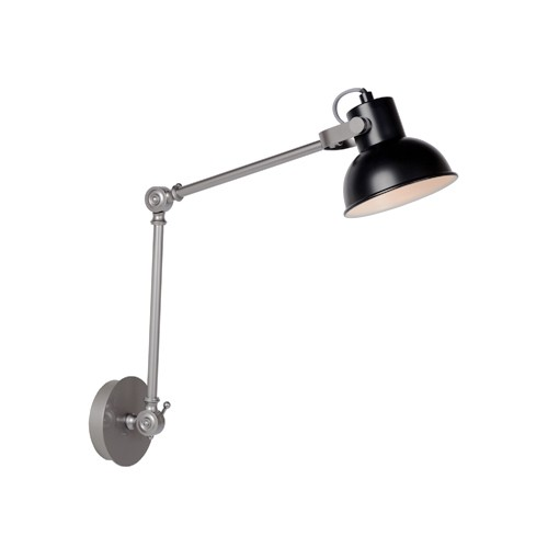 **Verstelbare wandlamp Crunch zwart