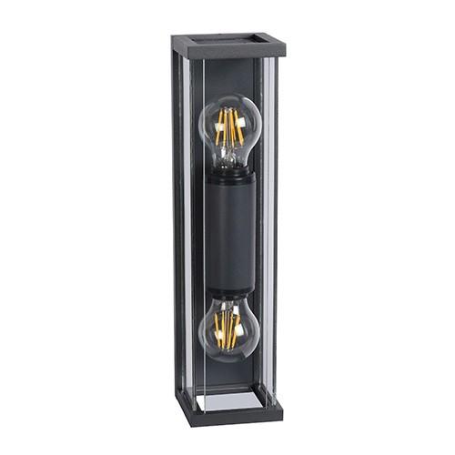 2-lichts moderne wandlamp IP54 met glas