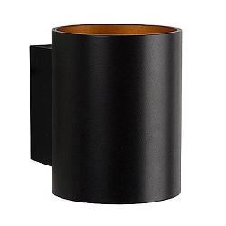 Wandlamp Xera zwart/goud binnenkant