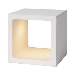 Witte tafellamp Xio kubus LED design