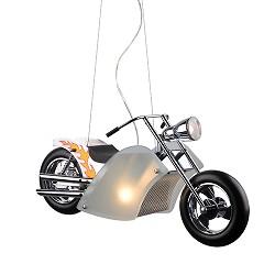 **Hanglamp Harley jongenskamer chroom