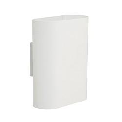 Ovalis wandlamp wit design slaapkamer