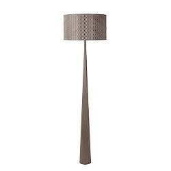 Hout vloerlamp landelijk met kap Conos