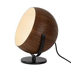 *Retro tafellamp bolstar hout bruin