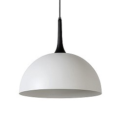 *Moderne hanglamp-koepel wit met zwart