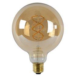 LED globe 125mm filament gold 5w