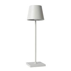 Oplaadbare LED tafellamp op accu wit