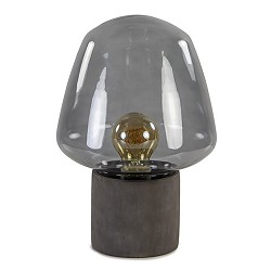 Trendy tafellamp met smokey glas