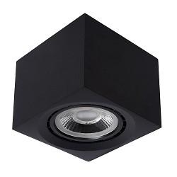 Opbouwspot kubus zwart gu10-111 dtw