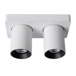 2-Lichts opbouwspot wit met dimbaar LED