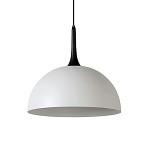 **Grote koepellamp-hanglamp wit met zwar