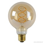 LED globe 95mm filament gold dimbaar 5w