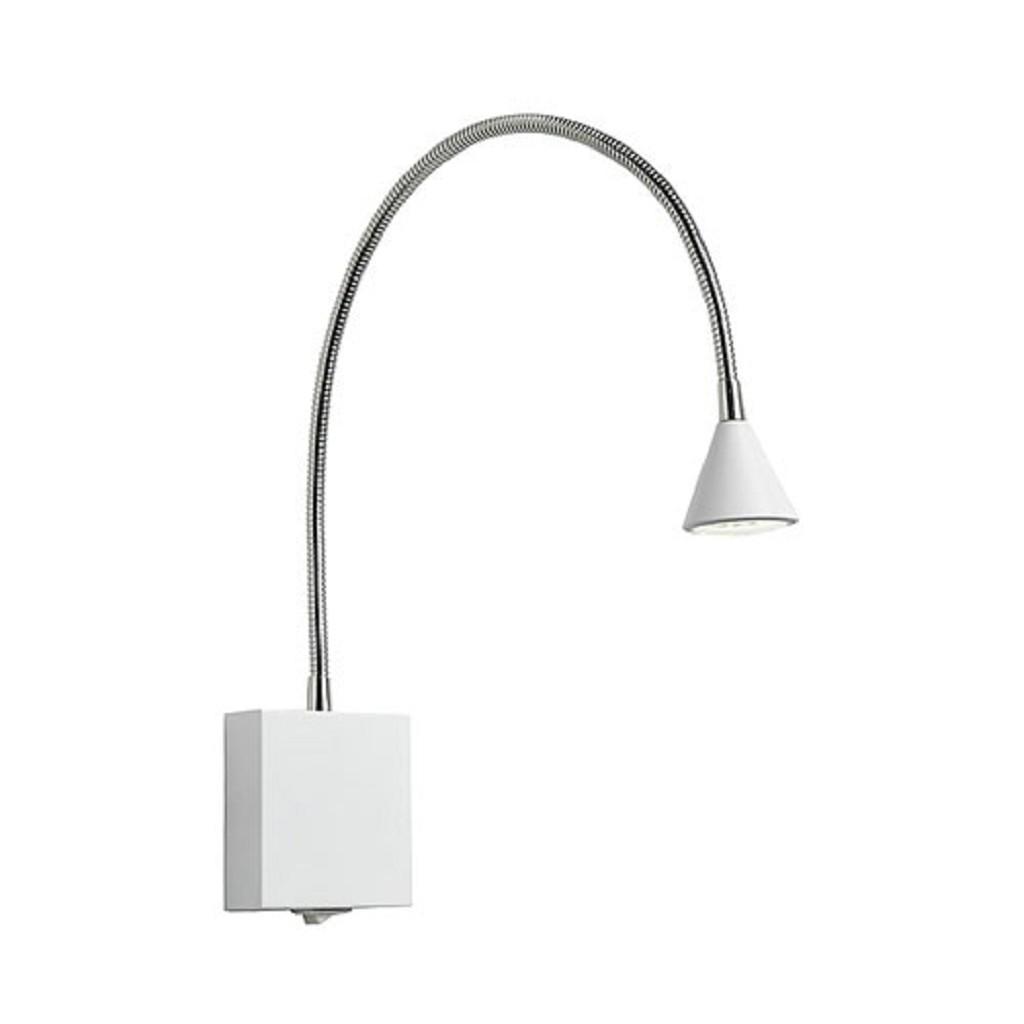 Wit  Bedlampje LED verstelbaar