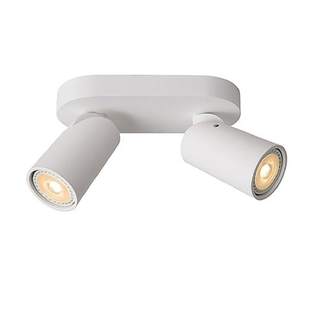 Opbouwspot 2-lichts wit incl. led gu10