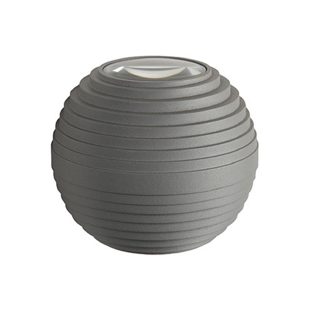 Badkamer LED wandlamp grijs IP54