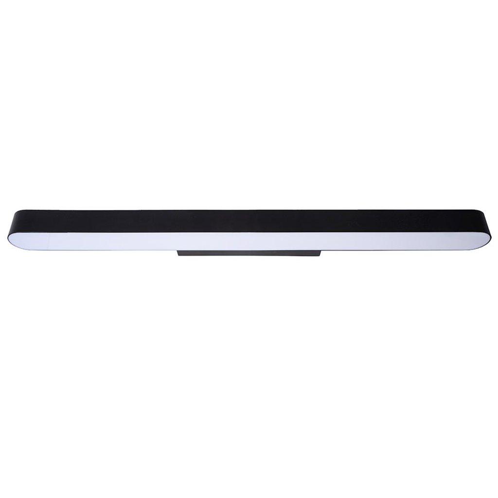 Langwerpige badkamer wandlamp LED zwart 90 cm