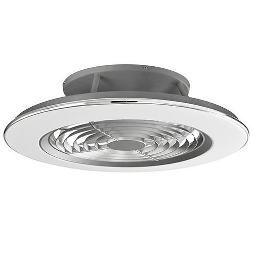 Zilveren ventilator met LED en bluetooth