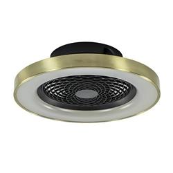 *Ventilator Tibet zwart/goud ab/app CCT