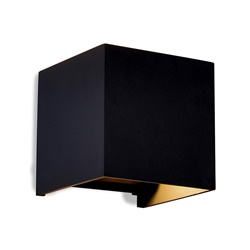 Buitenlamp kubus zwart verstelbaar IP54