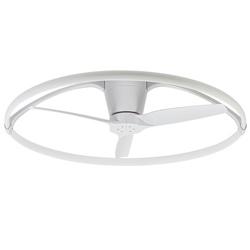 Grote LED plafondlamp met ventilator wit