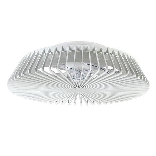 Plafondventilator wit lamellen + led CCT