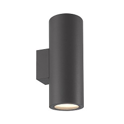 Moderne wandlamp buiten up+down graphite
