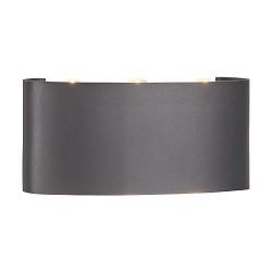 Up+downlight wandlamp buiten antraciet grijs