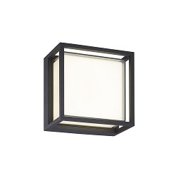 Vierkante LED wandlamp buiten IP65 antraciet