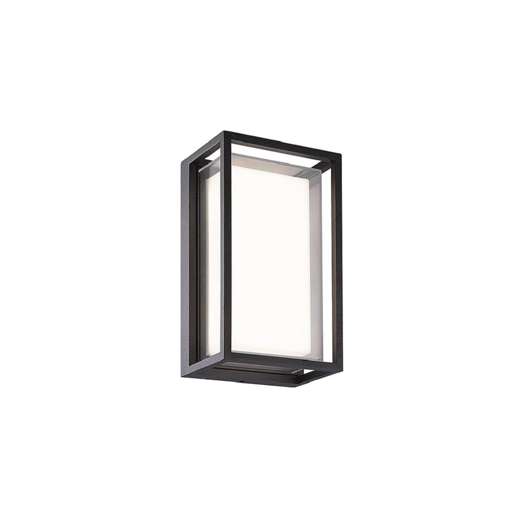 Moderne buitenlamp aluminium frame antraciet IP65