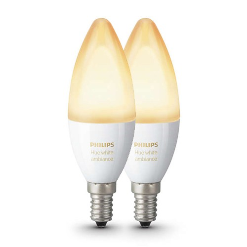 Philips Hue 6w e14 kaars 2-pack CCT BT