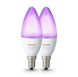 Philips Hue white and color ambiance E14 lamp 2-pack