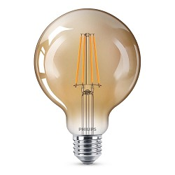 Led 8w e27 globe 93mm goud dimbaar