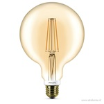 Globe 125mm led 7w filament gold dimbaar