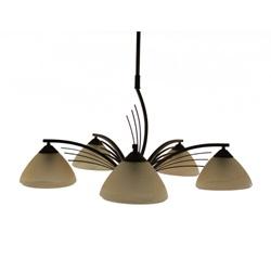 Klassieke hanglamp rond eettafel bruin
