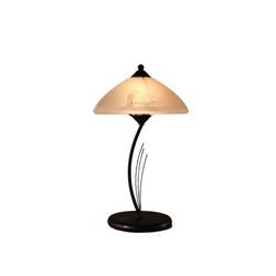 Smeedijzeren tafellamp klassiek bruin