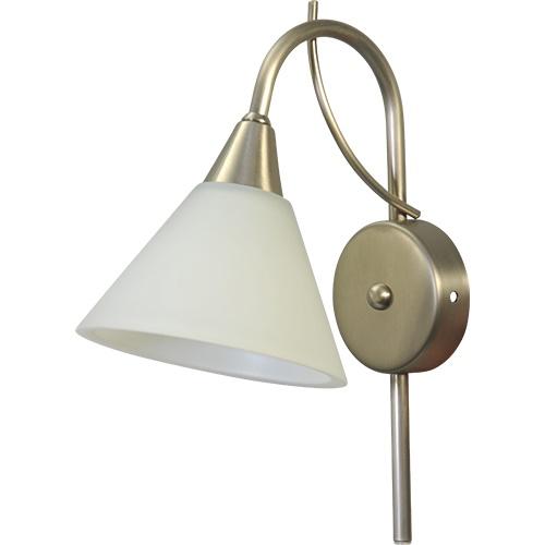 Strak klassieke wandlamp Latina nikkel