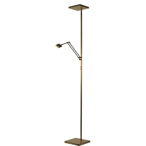 Vloerlamp/uplighter LED brons dimbaar