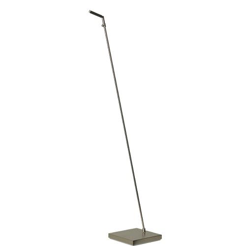Leeslamp staand LED nikkel dimbaar