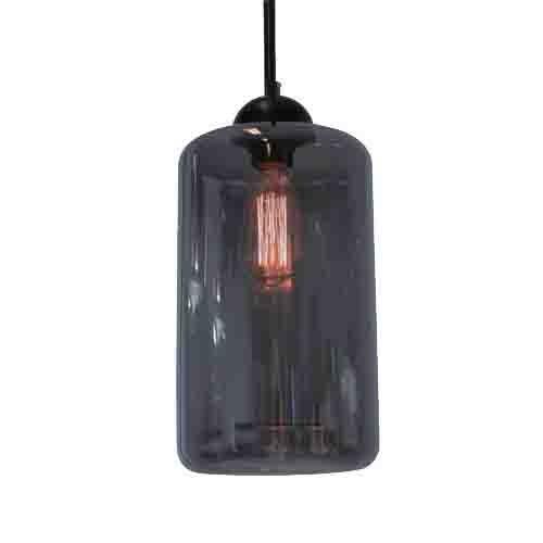 Hanglamp smokey glas cilinder keuken-ba