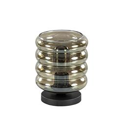 Tafellamp Quinto cilinder rib smoke/zw