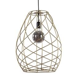 Trendy hanglamp draad goud met zwart