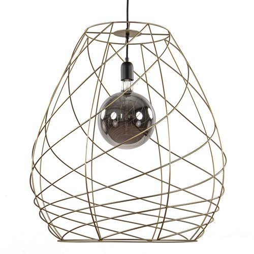 Gouden draad hanglamp groot 62 cm