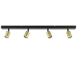 Luxe 4-lichts plafondspot goud met zwart GU10