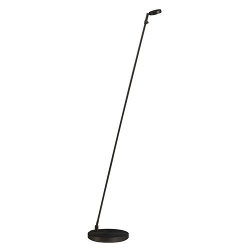 Staande leeslamp zwart dim-to-warm