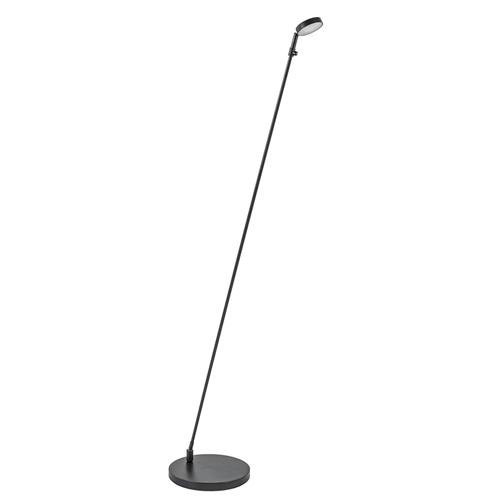 Verstelbare LED leeslamp zwart geborsteld staal dim-to-warm