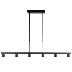Moderne 6-lichts hanglamp spots mat zwart
