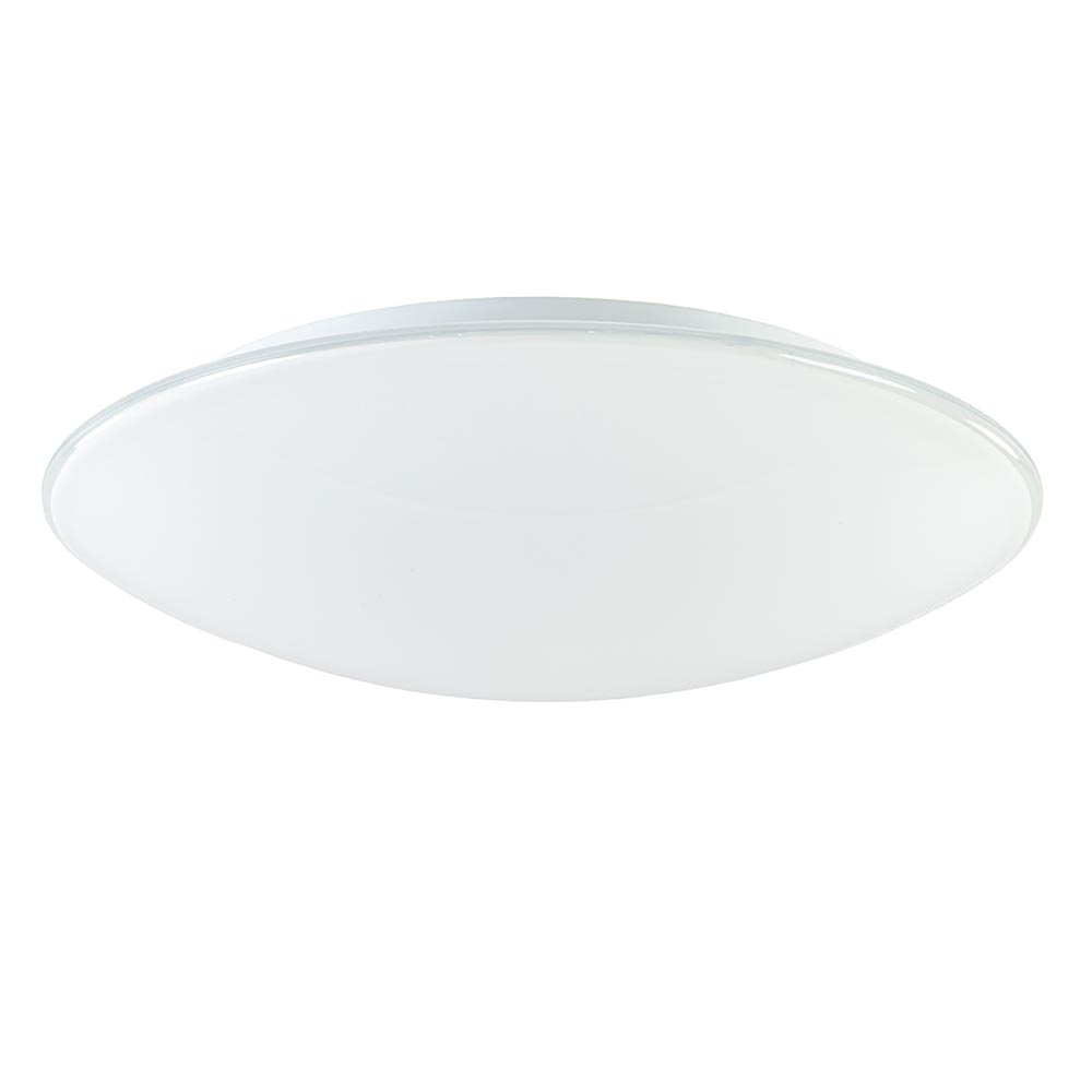 Plafondlamp rond met melk glazen kap