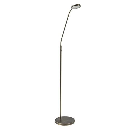 Strak klassieke LED leeslamp brons dim to warm